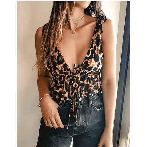 CAROLINA CROP PRINT LEOPARDO