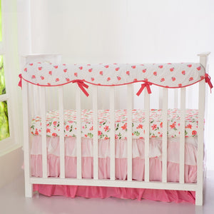 Blossoms Organic Reversible Baby Crib Rail Cover