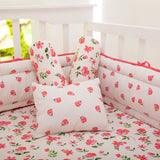 Organic Blossoms Fitted Crib Sheet
