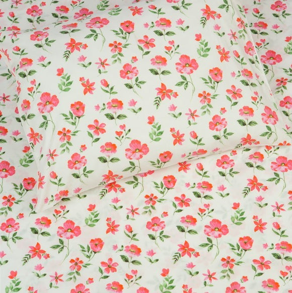 Kids Organic Blossoms Twin Sheet Set