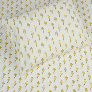 Kids Organic Lightning Bolts Twin Sheet Set
