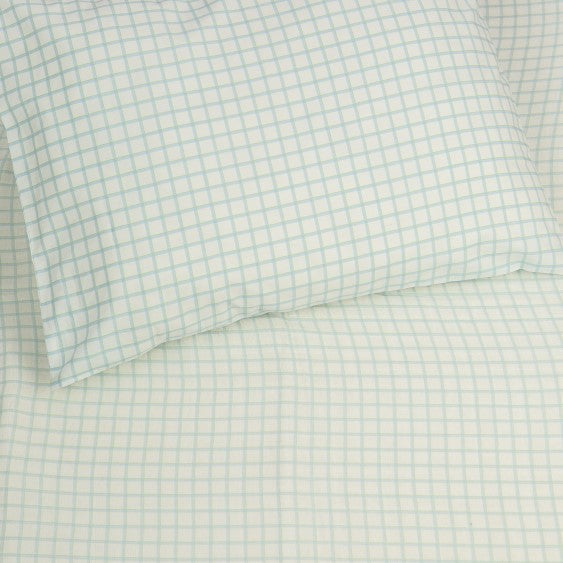 Kids Organic Plaid Twin Sheet Set