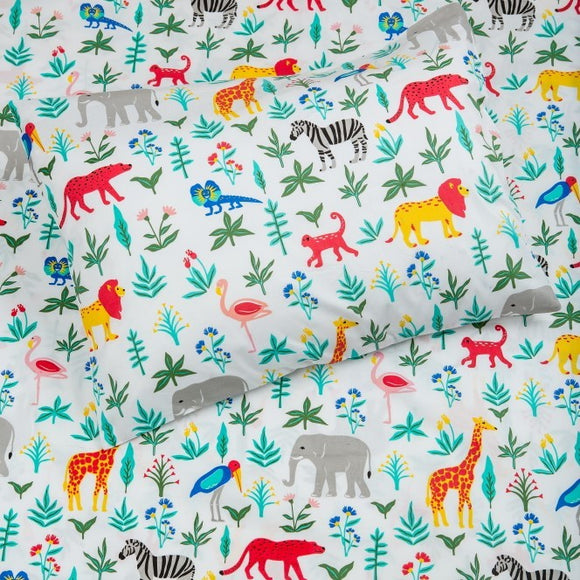 Kids Organic Serengeti Safari Twin Sheet Set