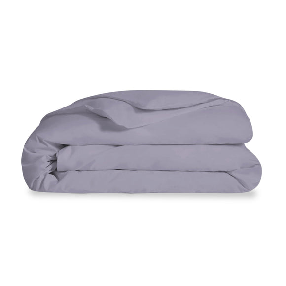 Organic Cotton Grey Queen Duvet Cover