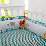 Organic Serengeti Stripes Fitted Crib Sheet