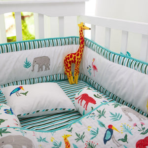 Serengeti Organic Baby Crib Bedding Set