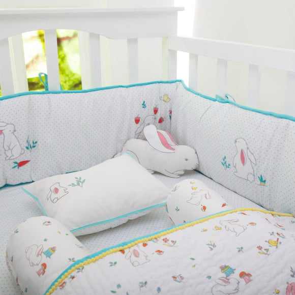 Snuggle Bunny Organic Baby Crib Bedding Set