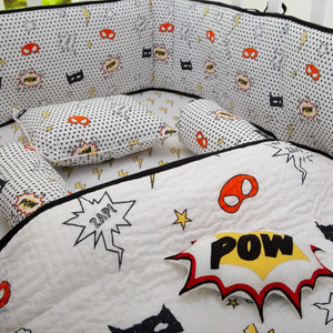 SuperHero Organic Baby Crib Bedding Set