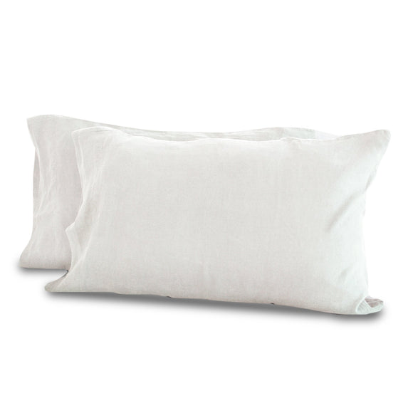 White Hemp Pillowcases