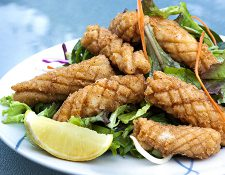 Squid Calamari Strips Pineaple Cut 1kg (110270)