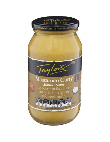 Massaman Curry Simmer Sauce 6x500gm (111546)