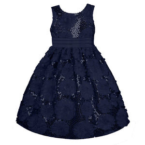 Holiday Navy Ruffle