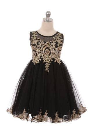 Designer Graduation Dress in Black