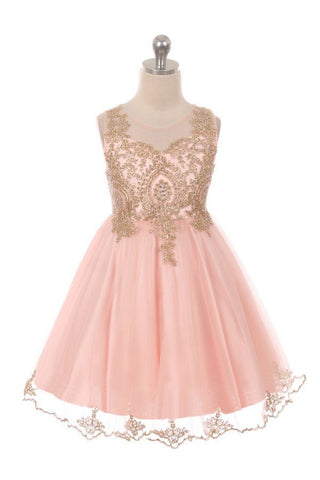 Designer Graduation Dress in Blush Pink