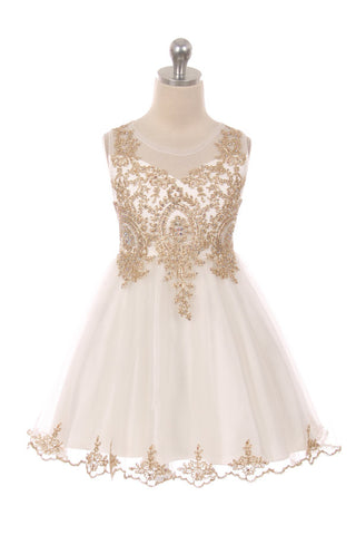 Designer Graduation Dress in Ivory