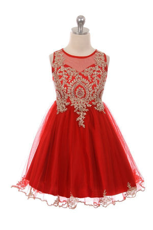 Designer Graduation Dress in Red