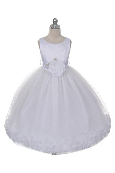 Ashley Dress with White Petals and Sash