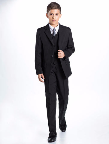 Ronaldo Black Communion 5 pc Suit
