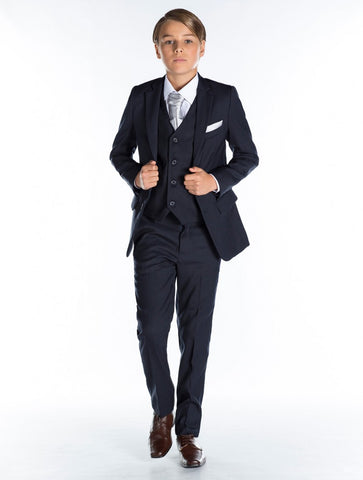 Ronaldo Navy Blue Communion 3 pc Suit