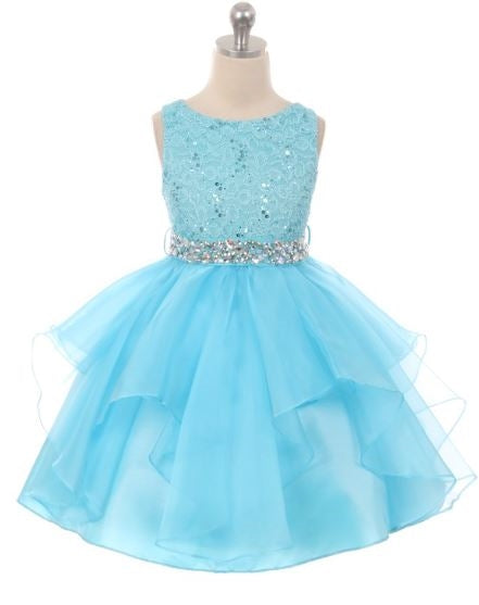 Couture Diamond design dress in Turquoise