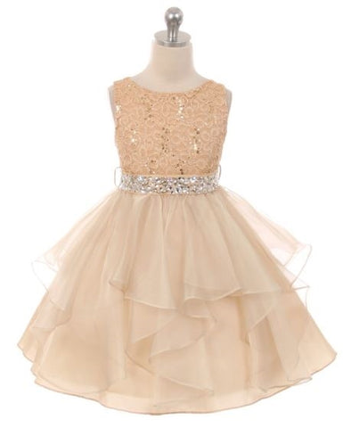 Couture Diamond design dress in Champagne
