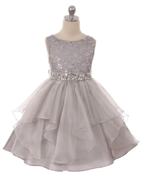 Couture Diamond design dress in Silver