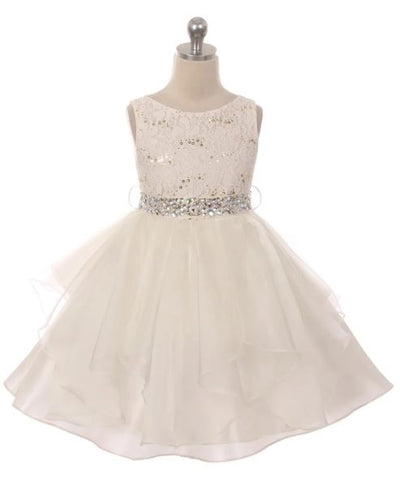 Couture Diamond design dress in Ivory