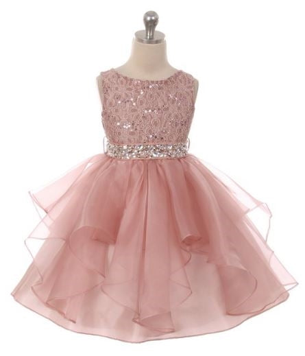 Couture diamond design dress in Blush Pink
