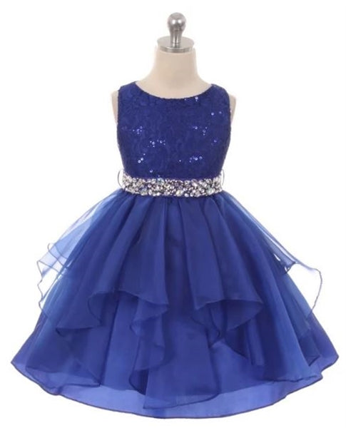 Couture Diamond design dress in Royal Blue