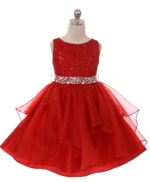 Couture Diamond design dress in Red