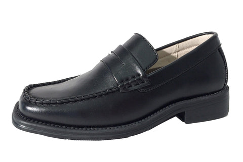 Boys Black Penny loafers