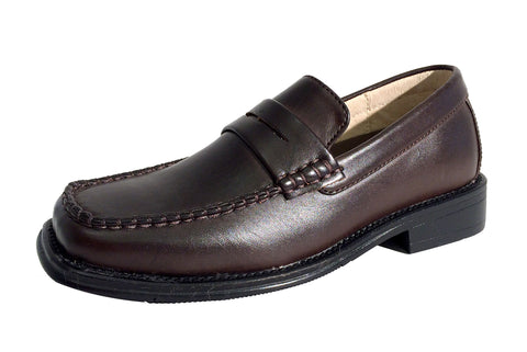 Boys Brown Penny loafers