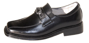Boys Classic Black Loafers