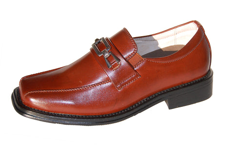 Boys Classic Brown Loafers