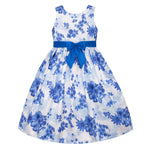 Paparazzi White and Blue Floral Dress