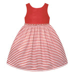 Paparazzi White and Coral Stripe Dress