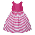 Paparazzi White and Fushsia Stripe Dress