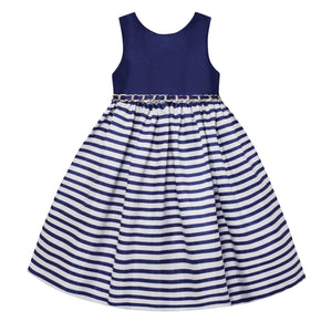 Paparazzi White and Blue Stripe Dress