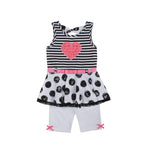 Pink Heart Capri Set