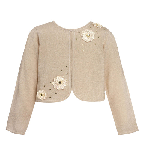 Gold Designer Knitted Sweater