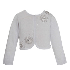 Silver Metalic Designer Knitted Sweater