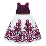 Paparazzi Dress in Wine and Cream