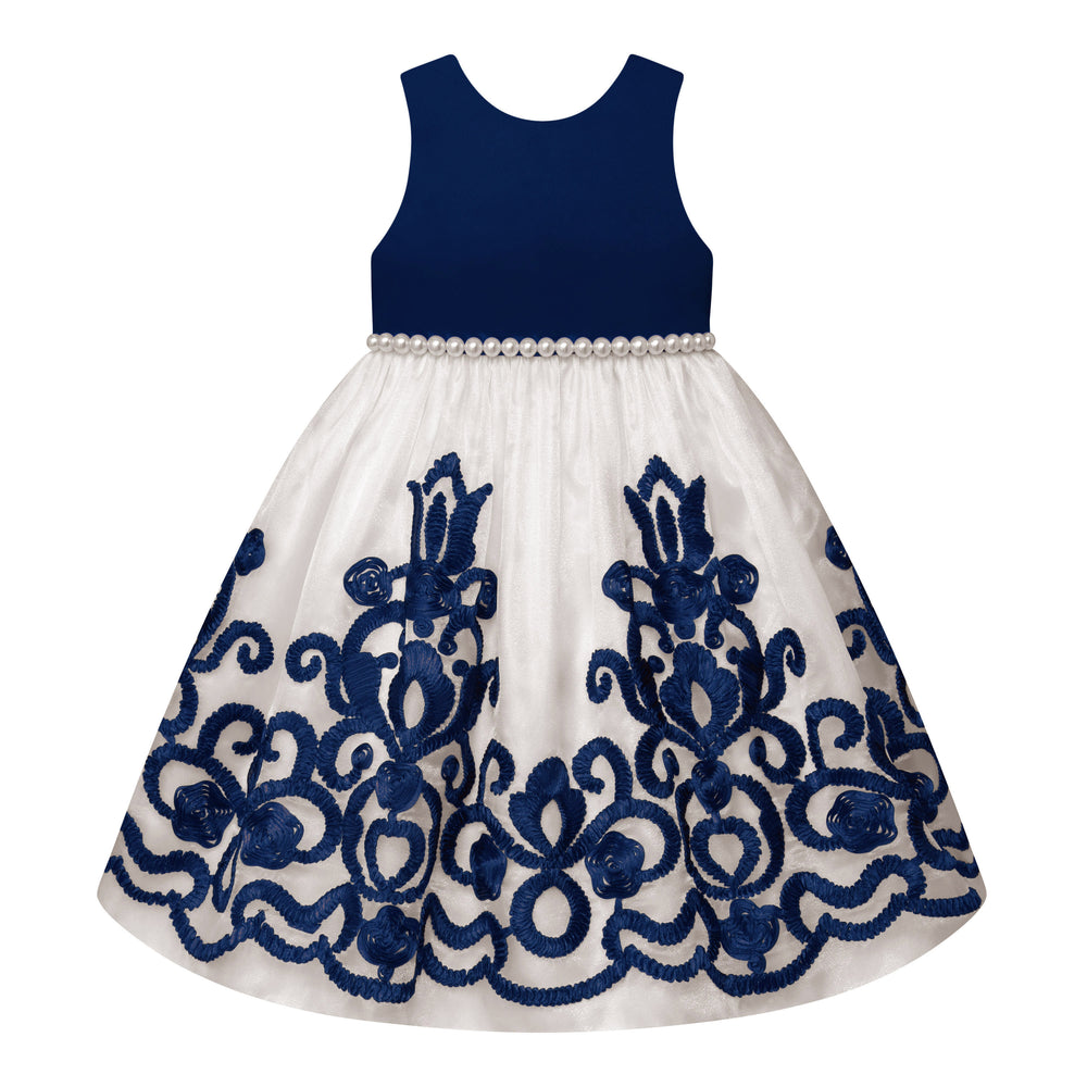 Paparazzi Dress in Navy and Cream