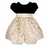 Baby Dress in Candlelight Black and Gold