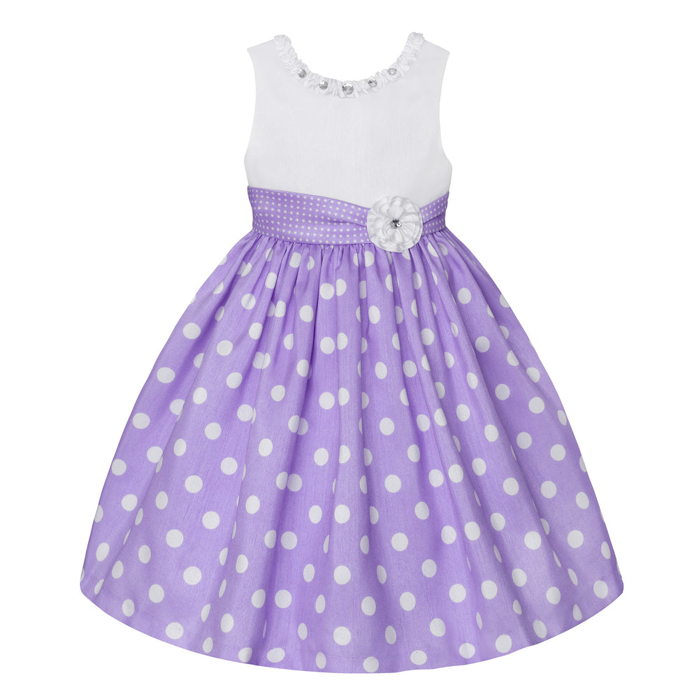 Paparazzi White and Lilac Polka Dot Dress