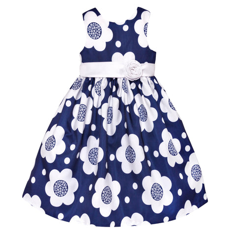 Paparazzi Navy and White Floral Dress