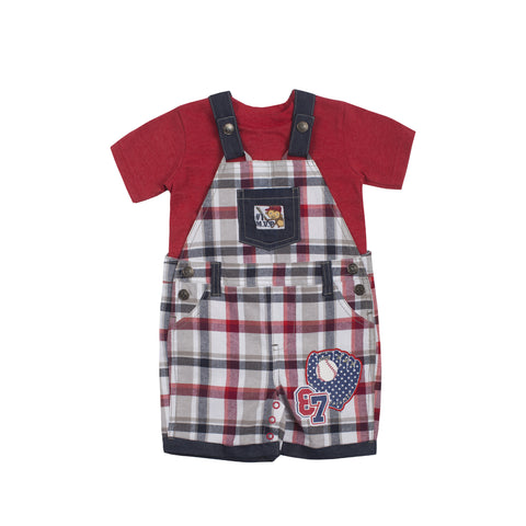 Boys Baseball Shortalls