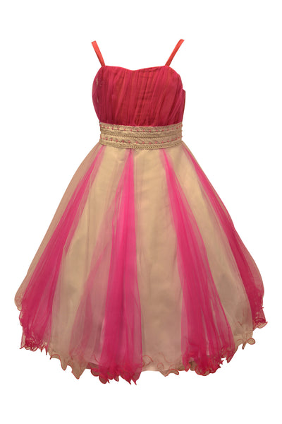 Paparazzi Dress in White and Fuchsia Pink