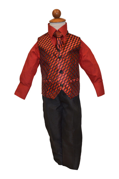 Ronaldo 4 pc Holiday Red Vest Set