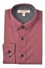 Designer Wine and White Accent Dress Shirts